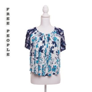 Free People Floral Blouse XS NWT